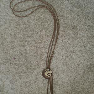 Leopard western style necklace
